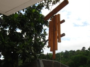 the bamboo chime at the entrance